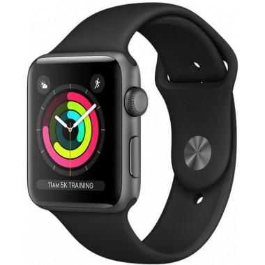 Смарт-часы Apple Watch Series 3 42mm Space Gray aluminium Sport Band tehniss.ru в Екатеринбурге