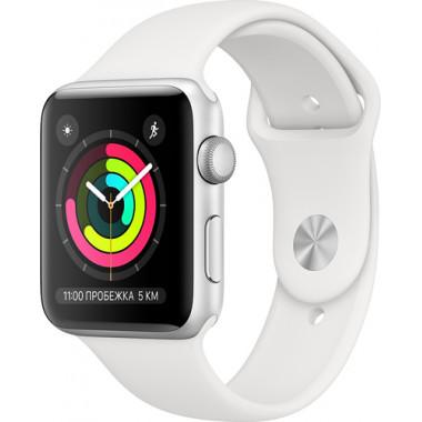 Смарт-часы Apple Watch S3 38mm Silver Aluminum Case with White Sport Band tehniss.ru в Екатеринбурге