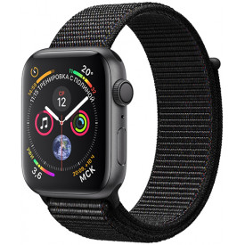 Смарт-часы Apple Watch S4 Sport 44mm Space Gray Aluminum Case with Black Sport Loop (MU6E2RU/A)