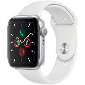 Смарт-часы Apple Watch Series 5 GPS 44mm Silver Aluminum Case white Sport Band