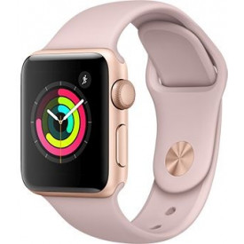 Смарт-часы Apple Watch Series 3 42mm Gold aluminium Pink Sand Sport Band