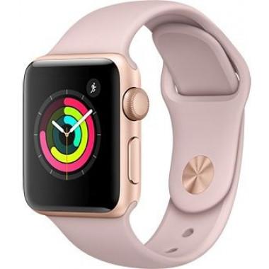 Смарт-часы Apple Watch Series 3 42mm Gold aluminium Pink Sand Sport Band tehniss.ru в Екатеринбурге