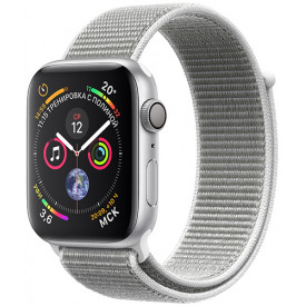 Смарт-часы Apple Watch S4 Sport 44mm Silver Aluminum Case with Seashell Sport Loop (MU6C2RU/A)