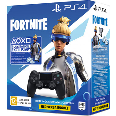 Геймпад Sony Dualshock v2 Black + Fortnite tehniss.ru в Екатеринбурге
