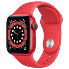 Умные часы Apple Watch Series 6 GPS 40мм Aluminum Case with Sport Band, (PRODUCT)RED