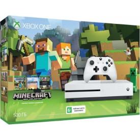 Игровая приставка Microsoft Xbox One S 500Gb Minecraft Edition
