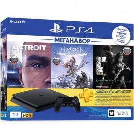 Игровая приставка Sony PlayStation 4 1Tb Detroit + Horizon Zero Dawn + The Last of Us + PS Plus 3 месяца
