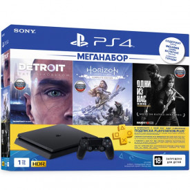 Игровая приставка Sony PlayStation 4 1Tb Detroit + Horizon Zero Dawn + The Last of Us + PS Plus 3 месяца