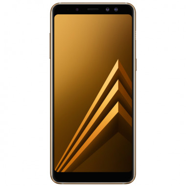 Смартфон Samsung Galaxy A8 (2018) 32GB Gold tehniss.ru в Екатеринбурге