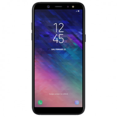 Смартфон Samsung Galaxy A6 (2018) 32GB Black tehniss.ru в Екатеринбурге