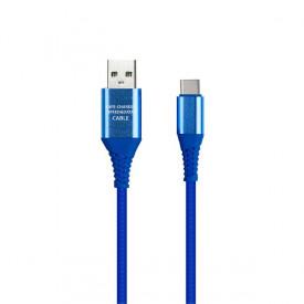 Кабель USB Type-C Smartbuy 1м Blue (iK-3112ERGbox)