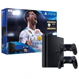 Игровая приставка Sony PlayStation 4 1Tb FIFA 18 + 2 геймпада+PS Plus 14 дней